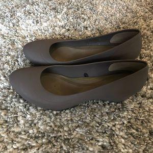 Womens slip on Crocs, size 6